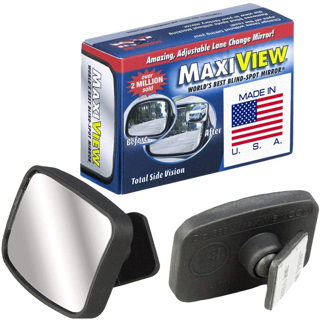 Made in the USA, HD Metal Lenses 360° Blind Spot Mirror