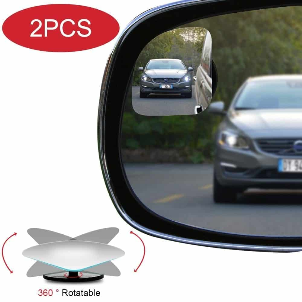 POMFW Blind Spot Mirror, Rearview Convex Adjustable Side Mirrors