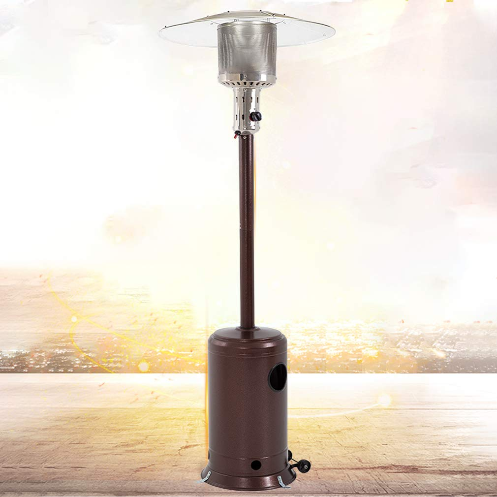 Patio Heater Tall Hammered Finish Garden Outdoor Heater Propane