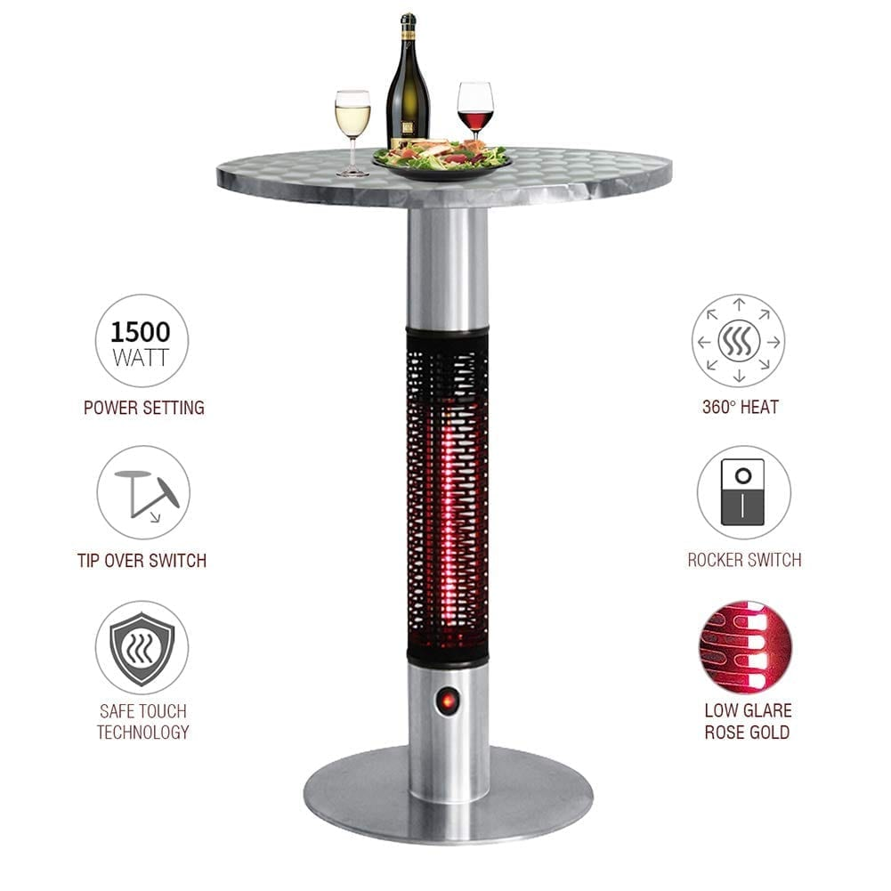 Skypatio Bistro Table Infrared Electric Outdoor Heater