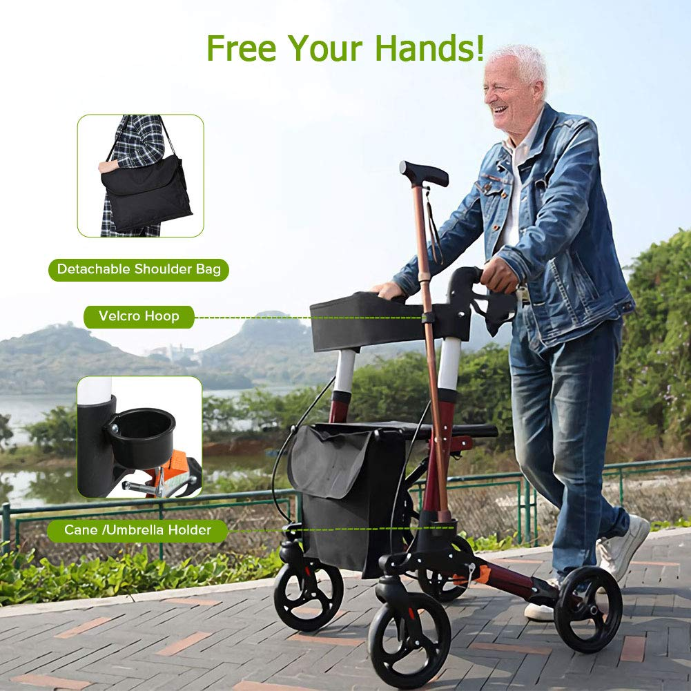 Top 10 Best Folding Walker With Seat And Wheels In 2019