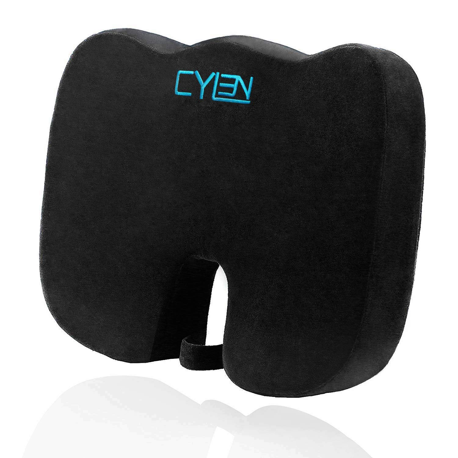 CYLEN Home-Memory Foam Bamboo Charcoal Infused Ventilated Orthopedic Seat Cushion
