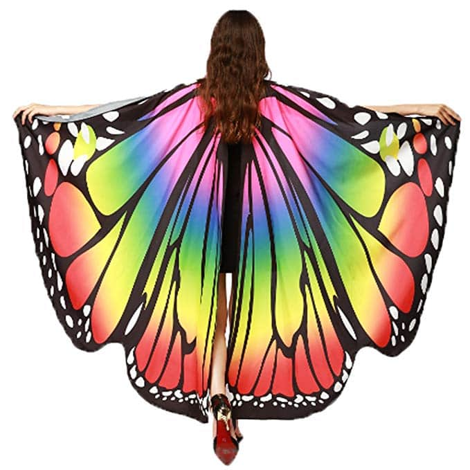 Christmas Party Butterfly Wings Shawl Fairy Ladies Costume Accessory