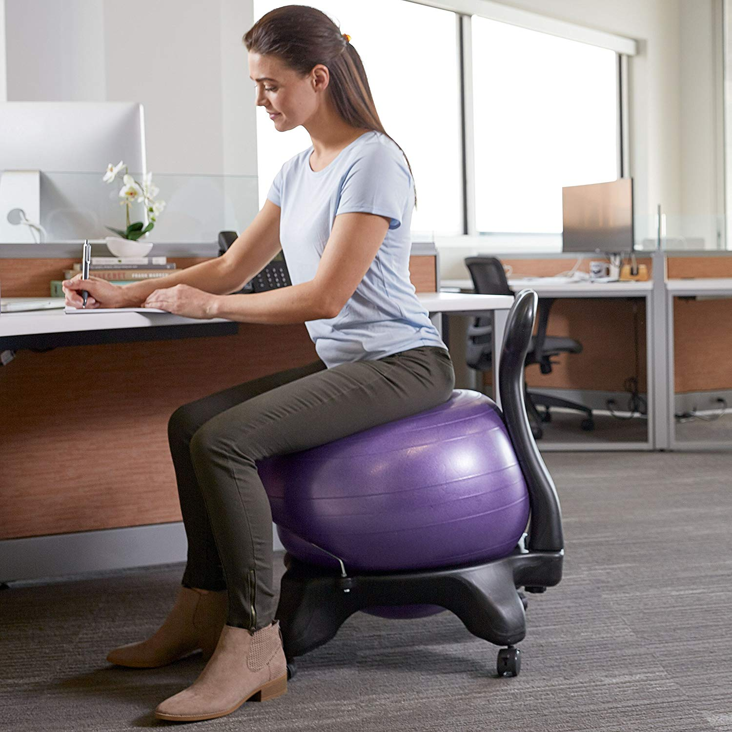 Gaiam Classic Ball Chair with Back Rest