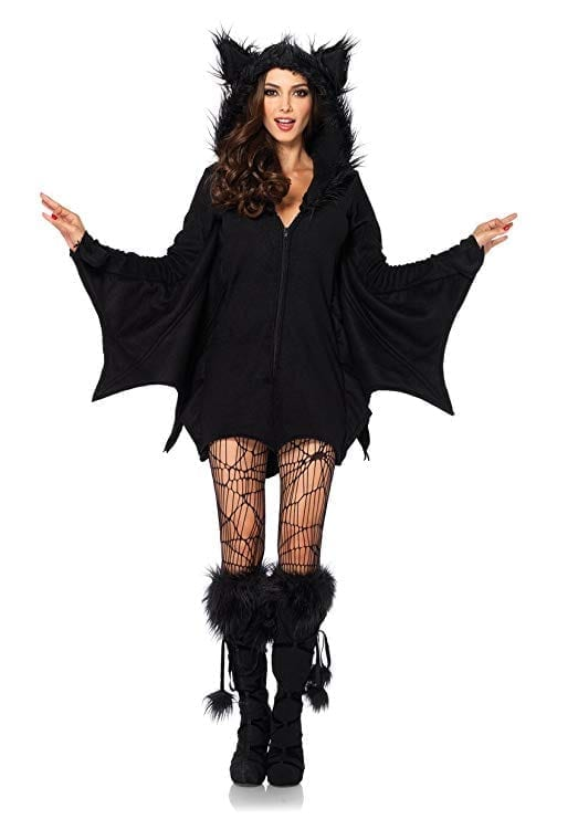 Leg Avenue Women's Cozy Black Bat Halloween Costume