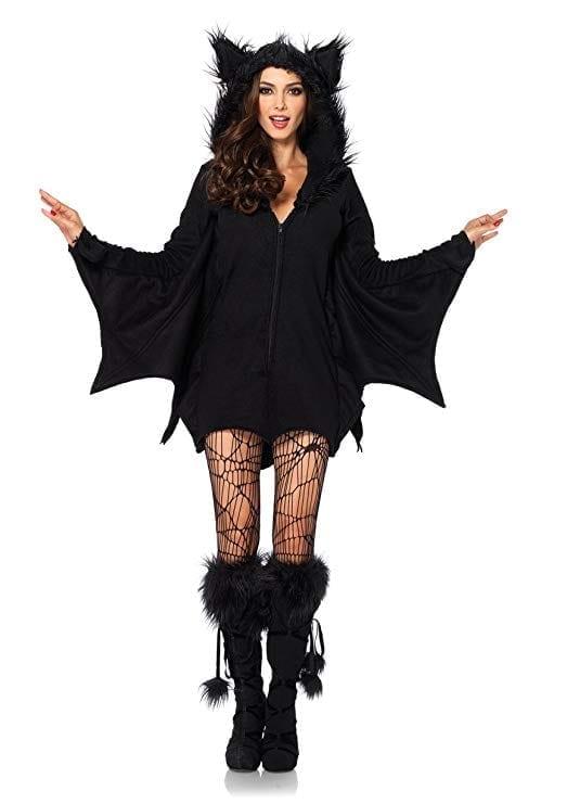 Leg Avenue Women's Cozy Black Bat Halloween Costume