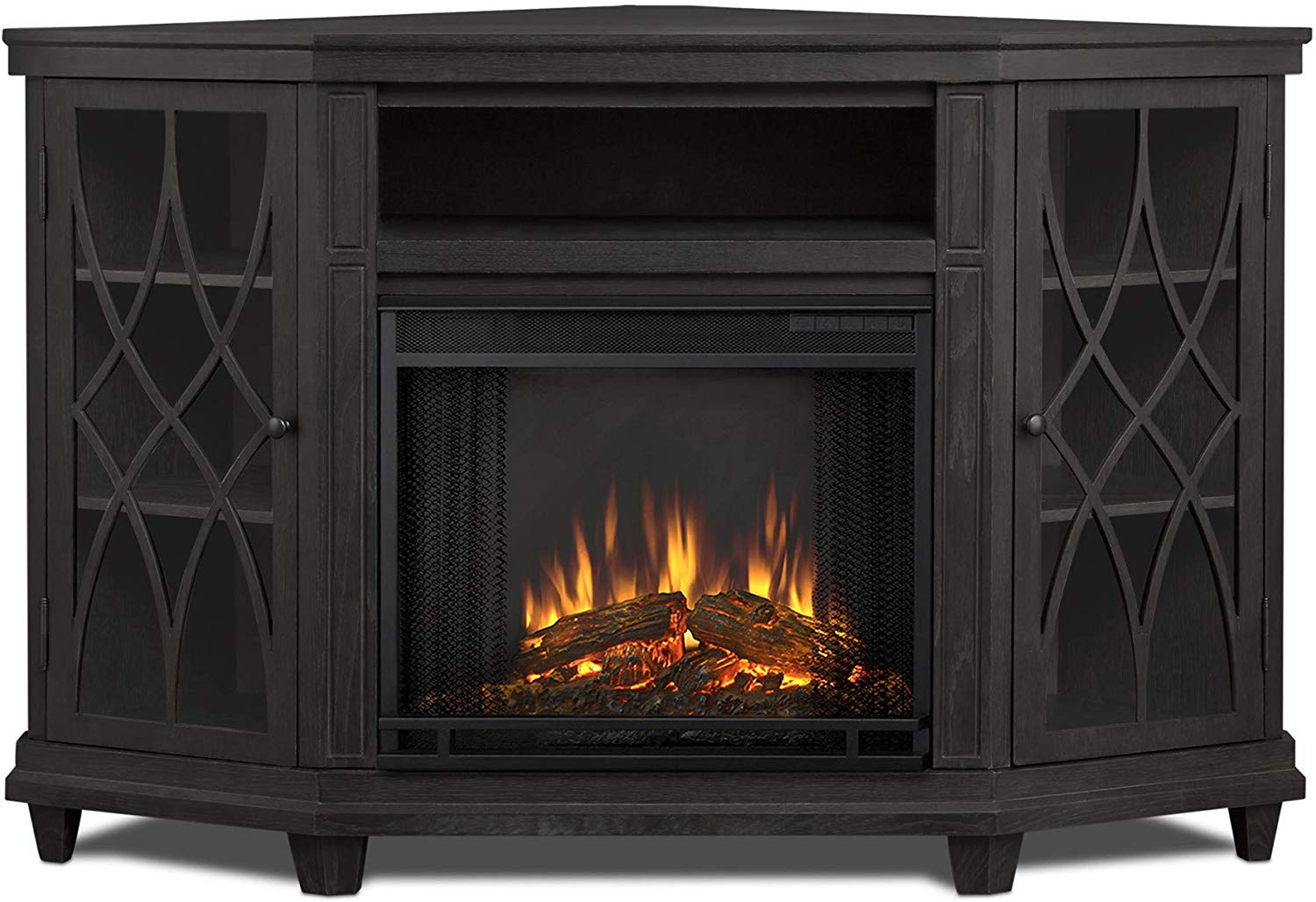 Real Flame Lynette Electric Fireplace in Gray Finish