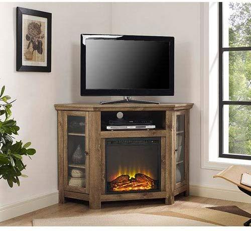 Walker Edison Jackson Collection Wood Corner Media TV Stand