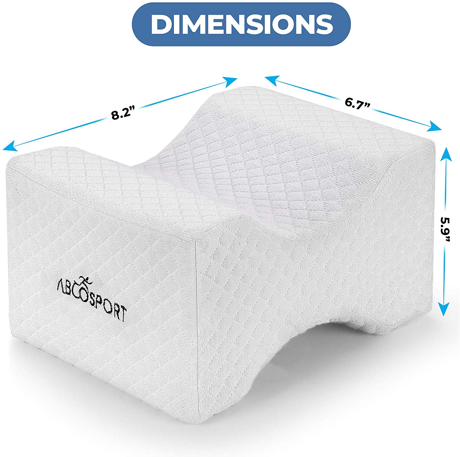 Abco Tech Memory Foam Leg Positioner Pillow
