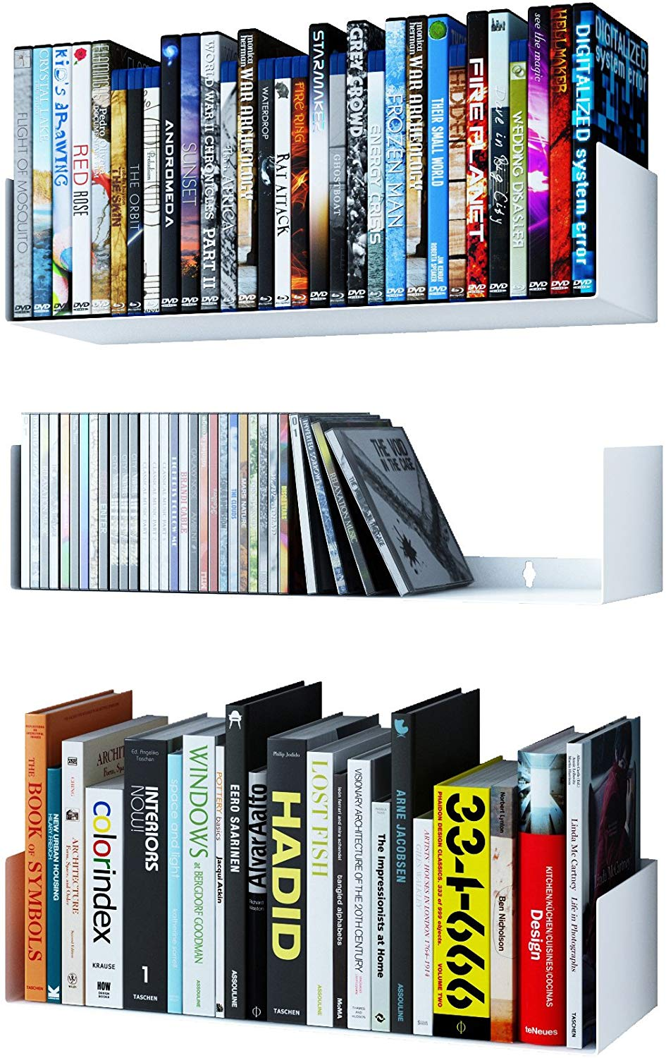 Bali U Shape Bookshelves by Wallniture