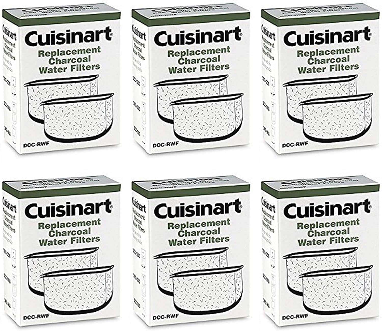 Cuisinart DCC-RWF-6PK Charcoal Water Filters