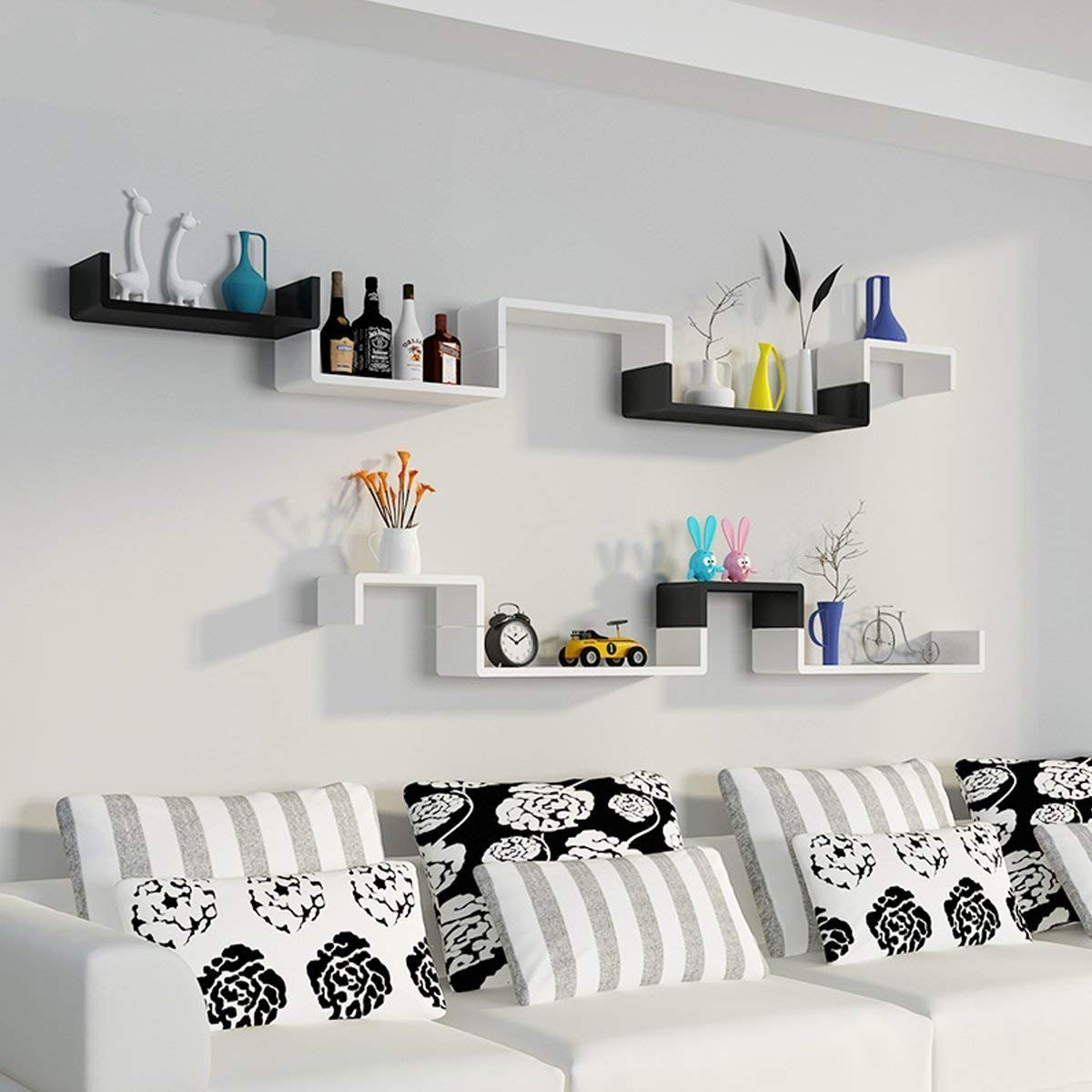 Floating Shelves Wall Mounted Set of 3 by Homevol
