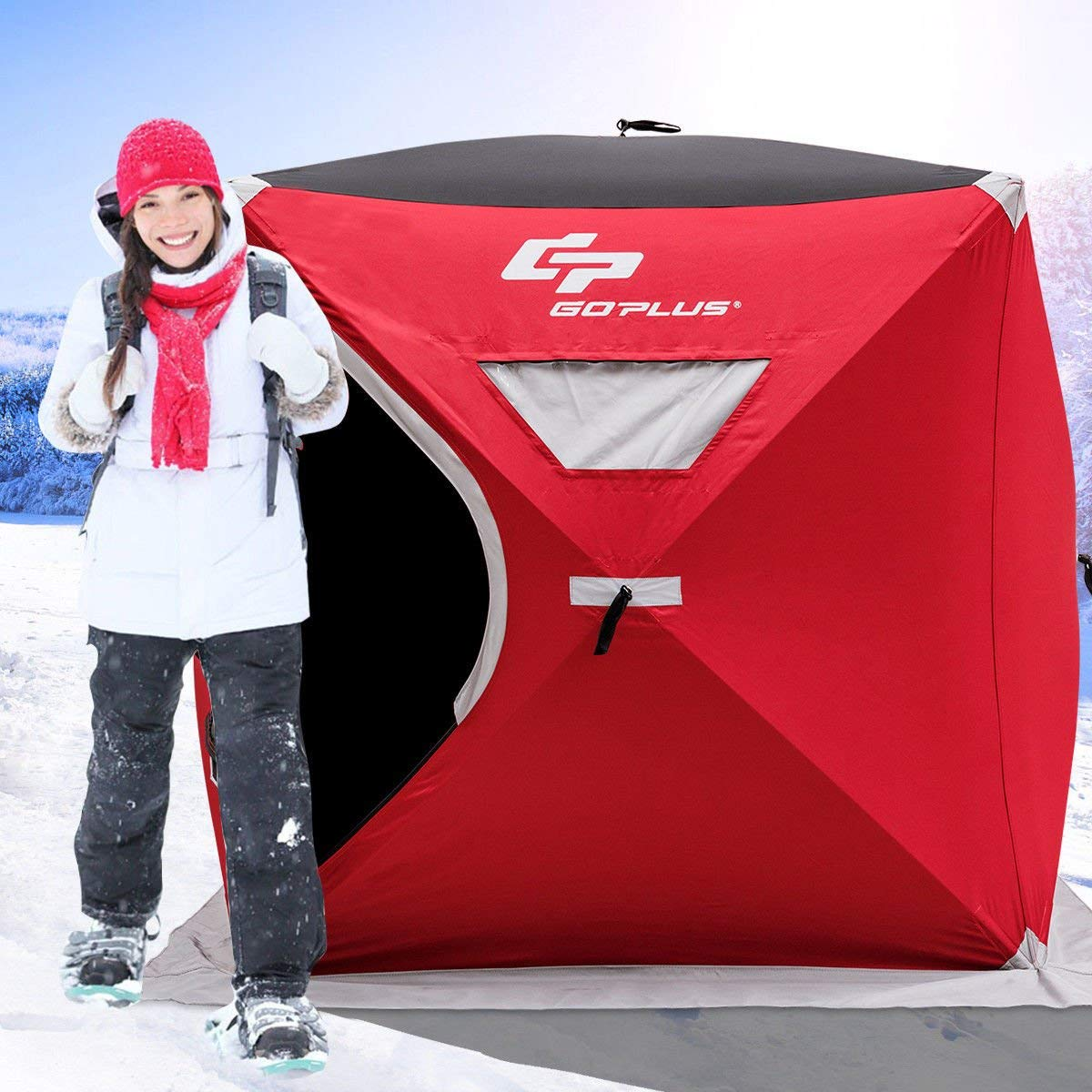 Goplus Pop-up Ice Fishing tent
