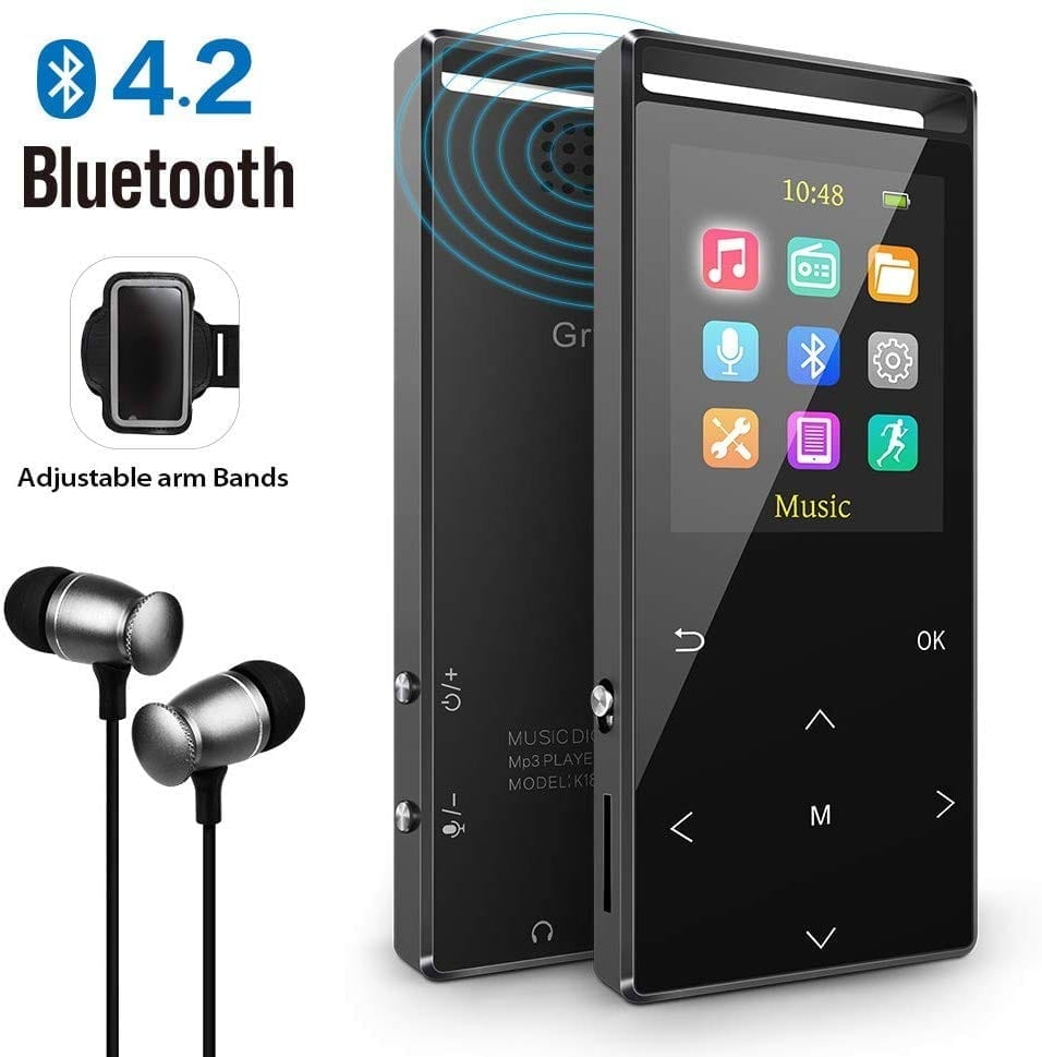 Grtdhx 32GB Bluetooth MP3 player