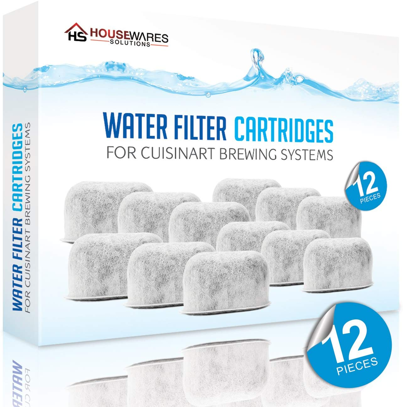 Housewares Solutions Replacement Charcoal Water Filters 12 pieces