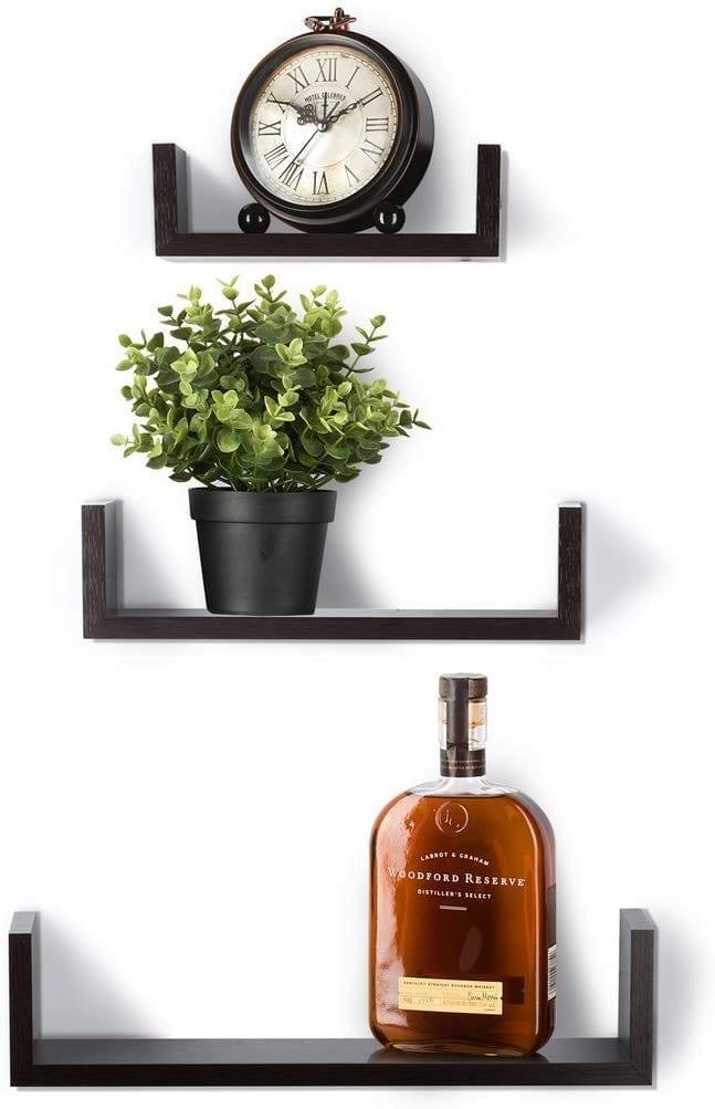 Set of 3 Floating Shelves by Saganizer