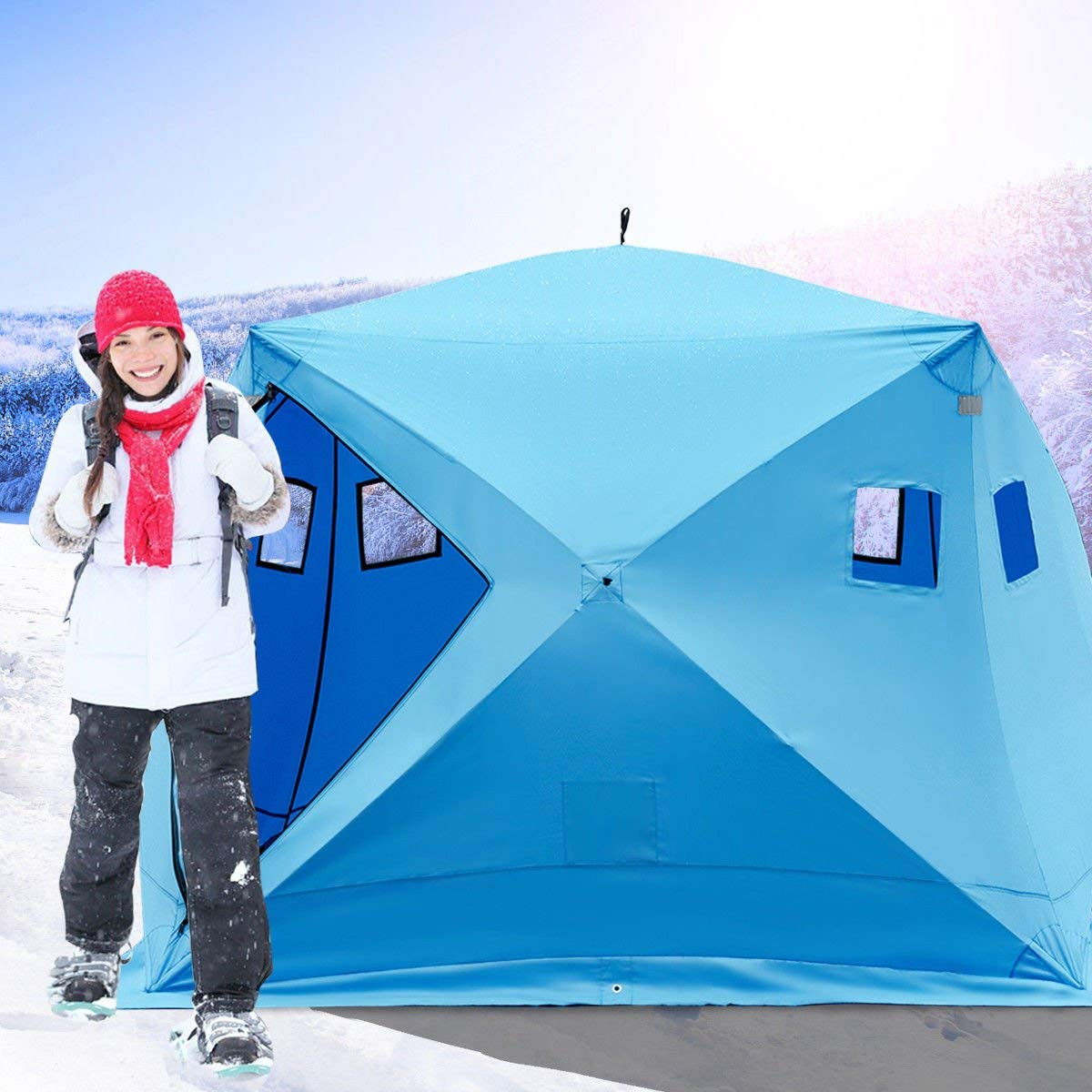 Tangkula 4-Person Ice Shelter