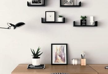 Wall Mounted 3 Floating U Shelves