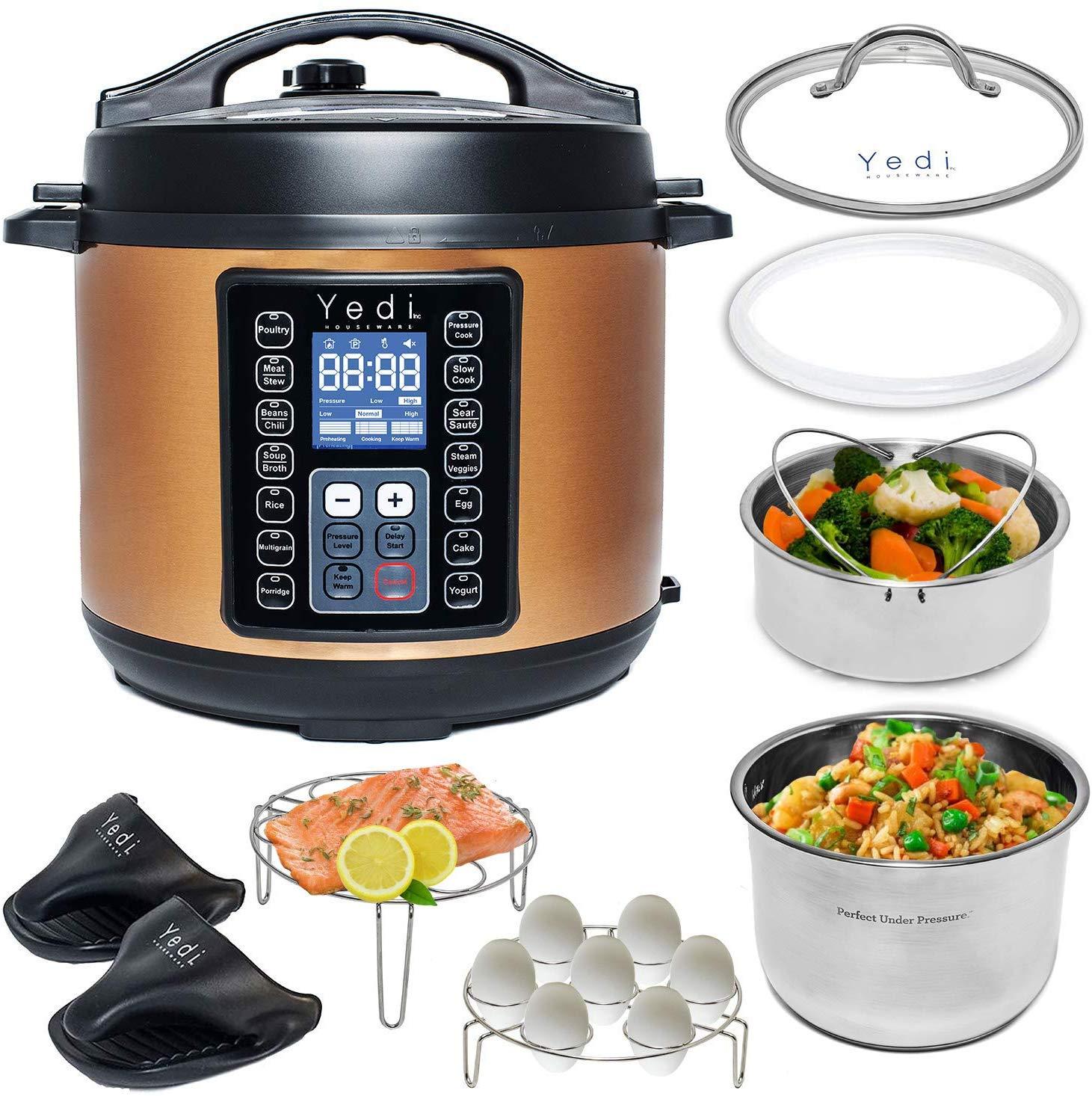 Yedi Houseware 9-in-1 total package instant pressure cooker