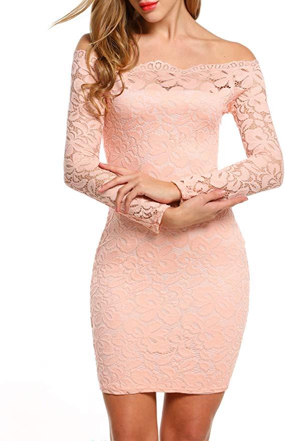 ACEVOG Off-shoulder Bodycon Party Dresses