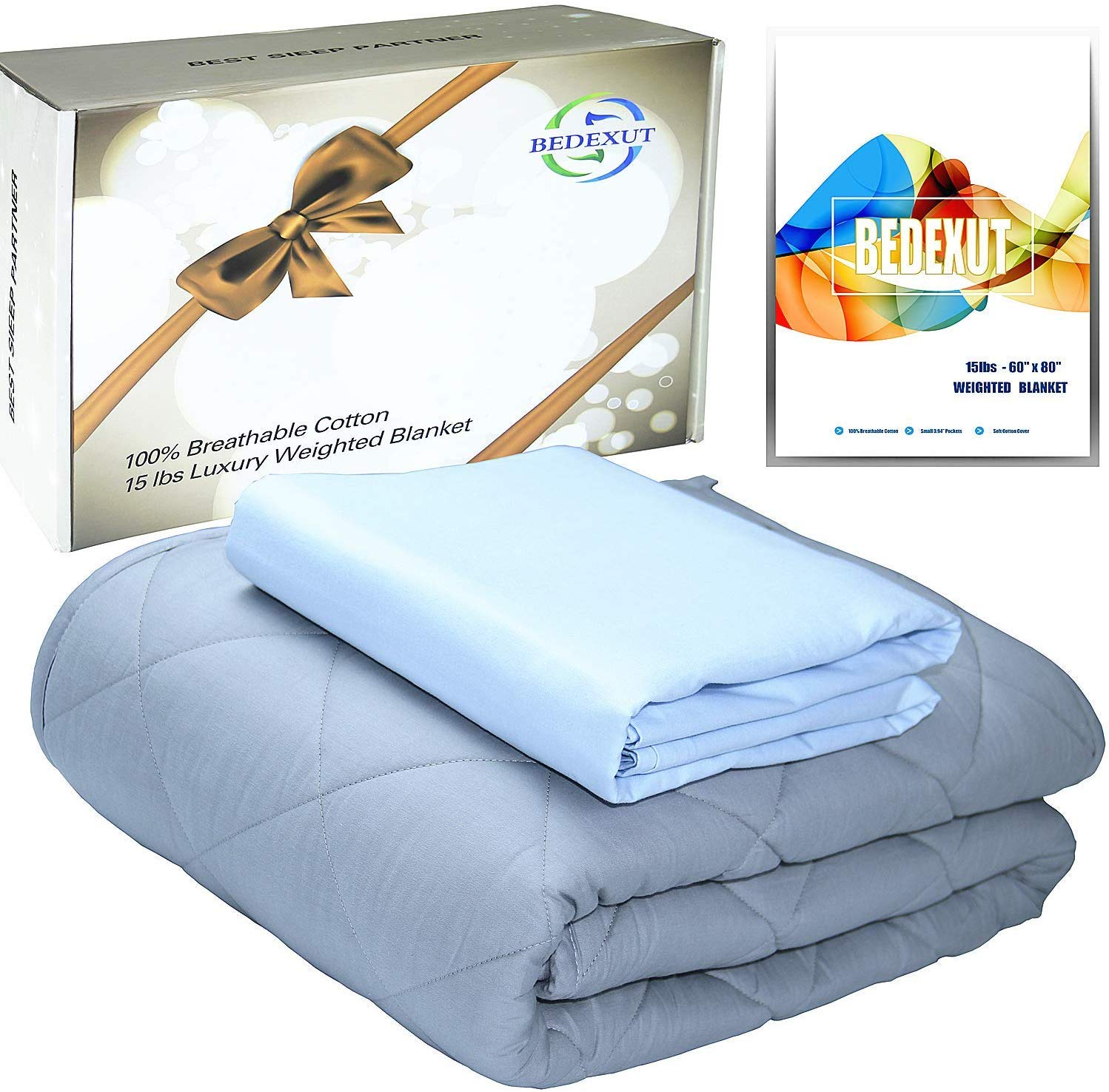 BEDEXUT Cooling Weighted Blanket