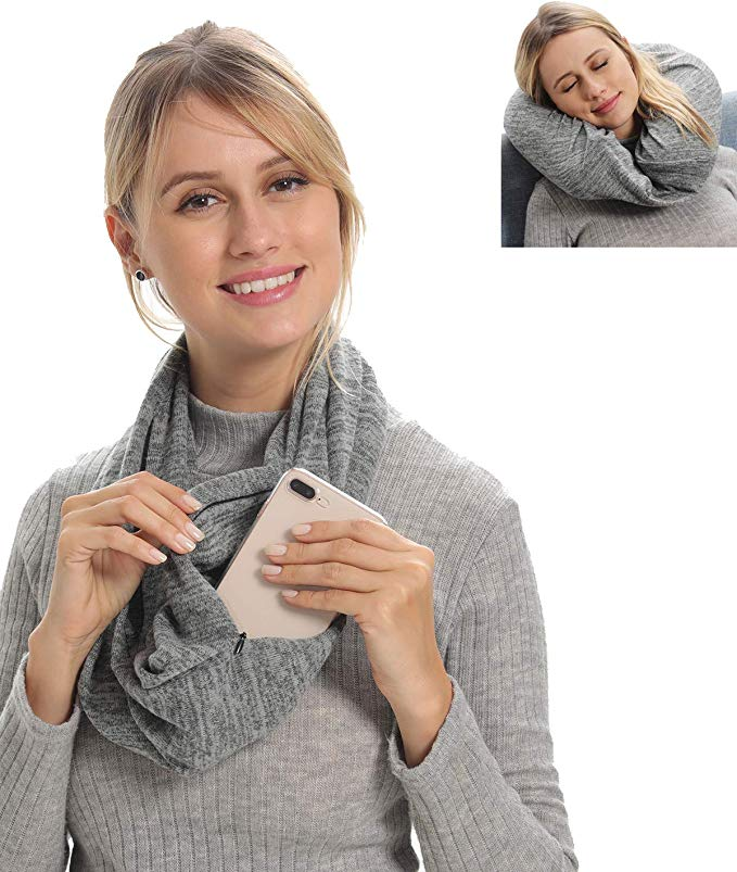 Genovega Pocket Scarf with Inflatable Pillow