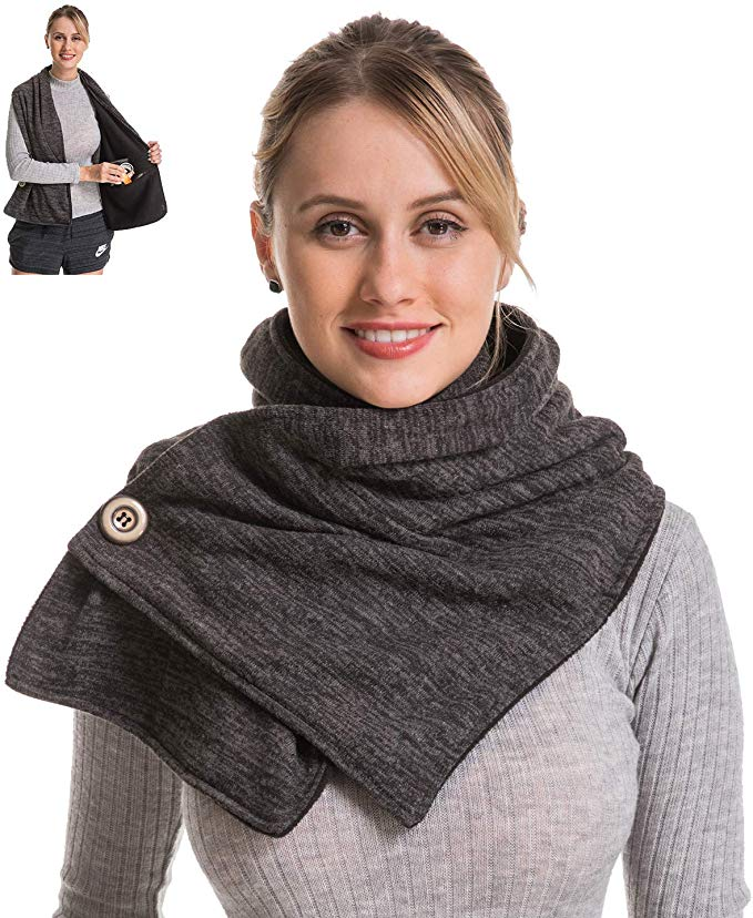 Genovega Travel Scarf with Two Hidden Pockets