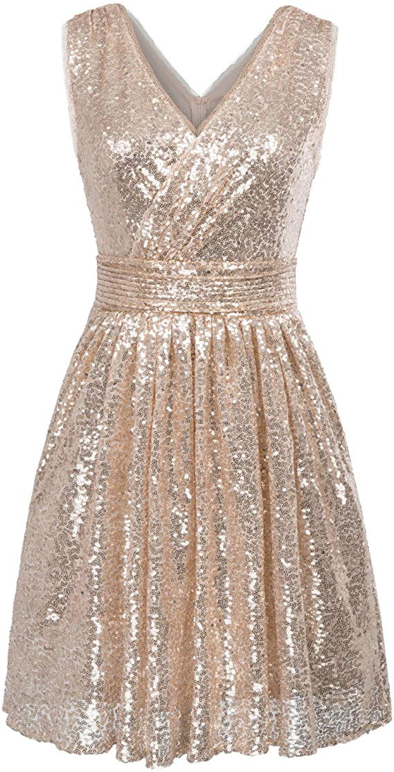 Kate Kasin Sequin Maxi Dress