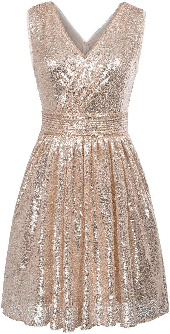 Kate Kasin Sequin Maxi Dress