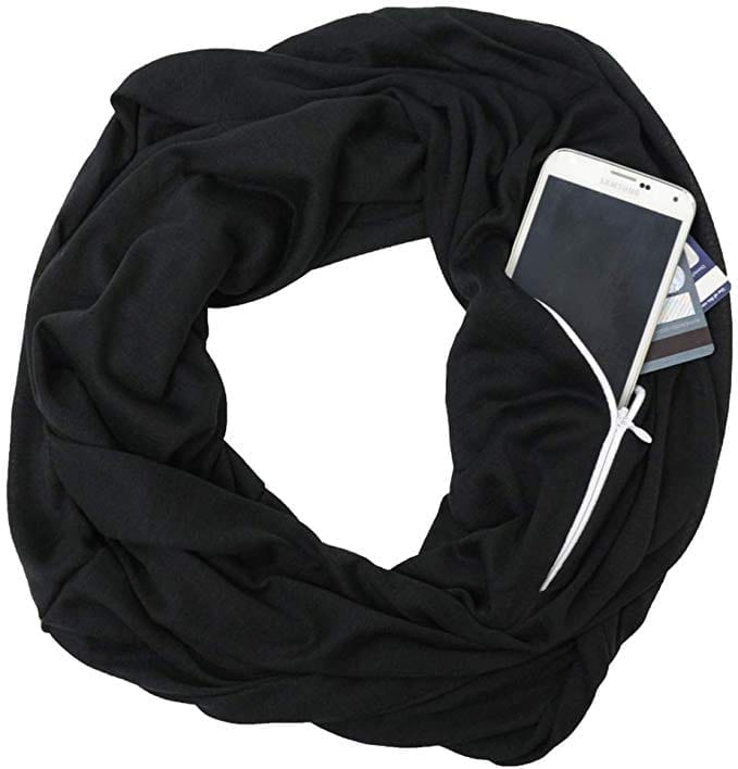 Shop Pop Fashion Zipper Pocketed Scarf