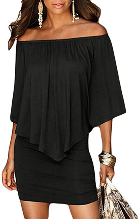 Sidefeel Off-shoulder Mini Dress