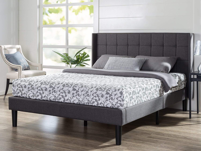 Zinus Dori Upholstered Wingback Platform Bed