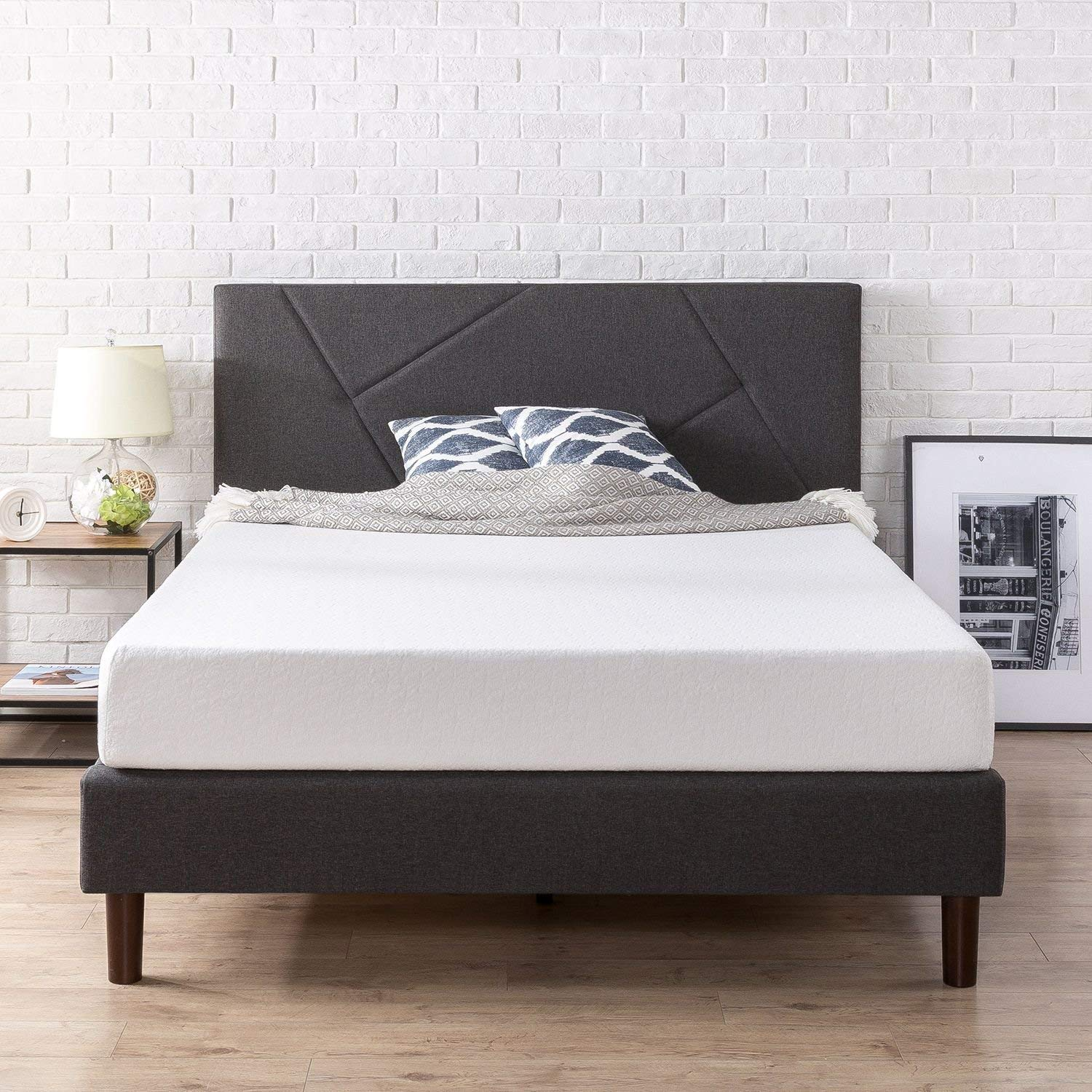 Zinus Queen-Sized Upholstered Platform Bed
