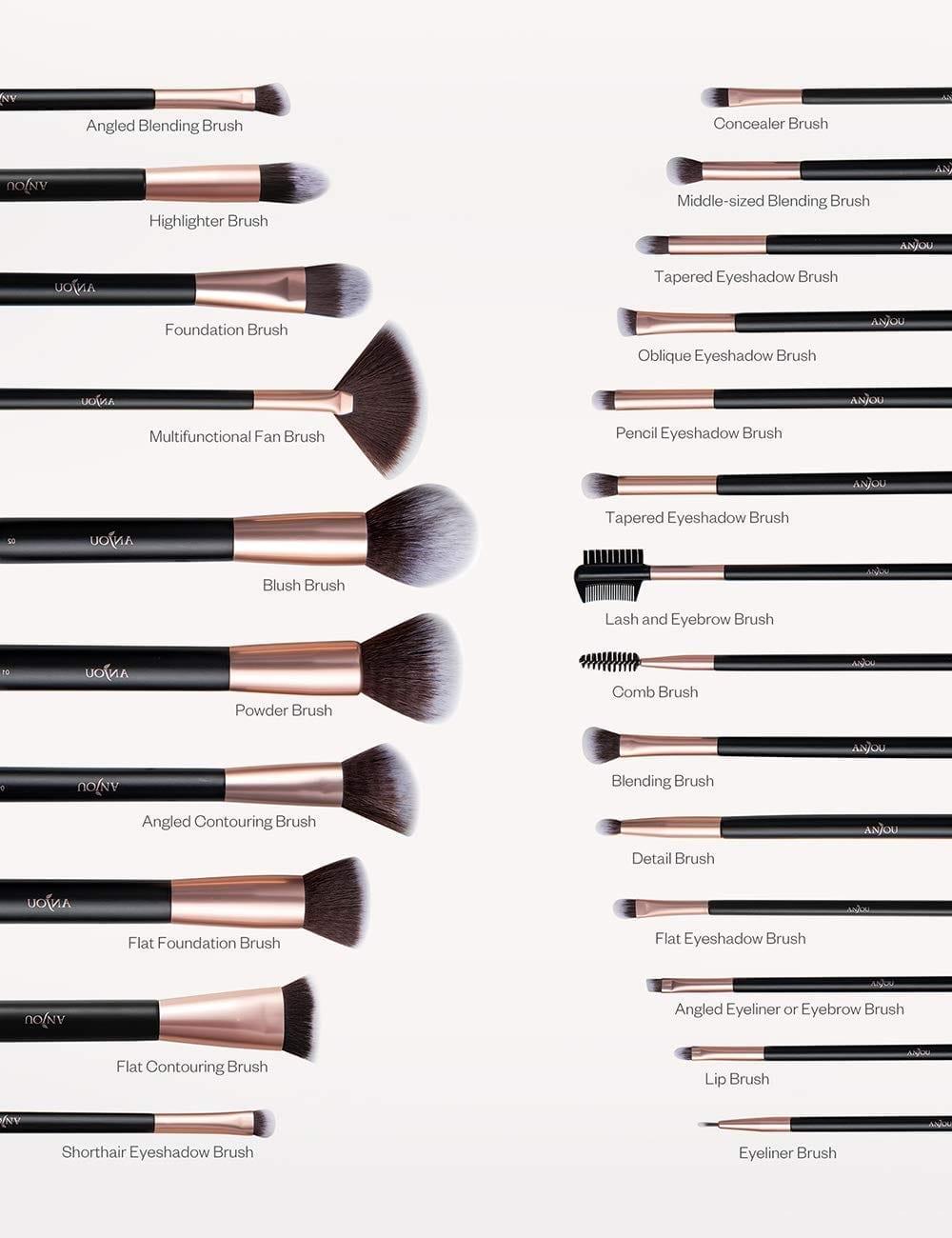 Anjou Set of Makeup Brushes