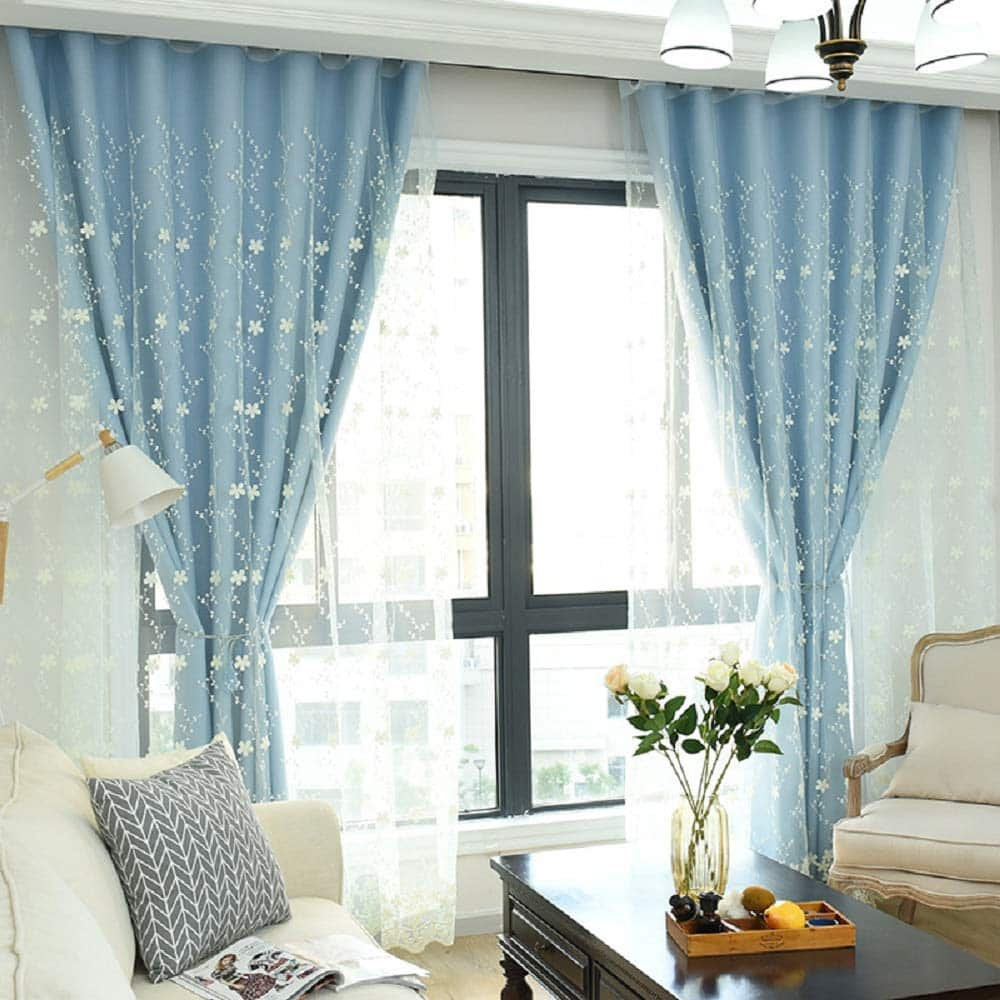 Didihou Embroidered Blackout Double Layer Curtain