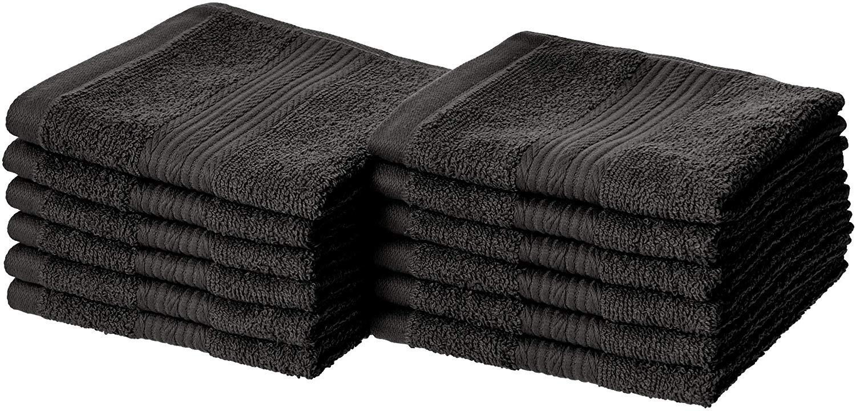 Fade-Resistant Cotton Washcloths by AmazonBasics