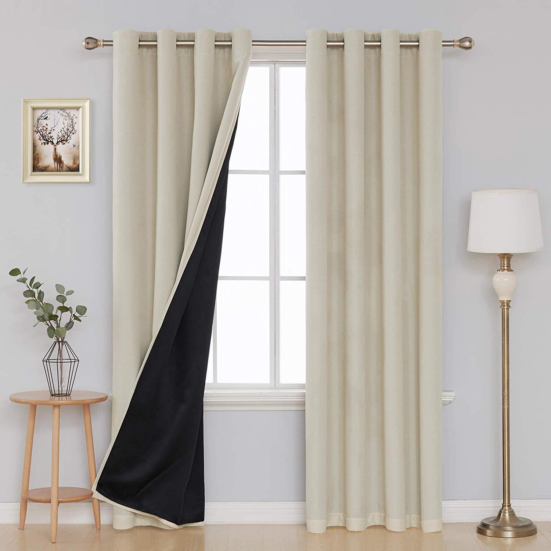 Faux Linen Blackout Curtain by Deconovo