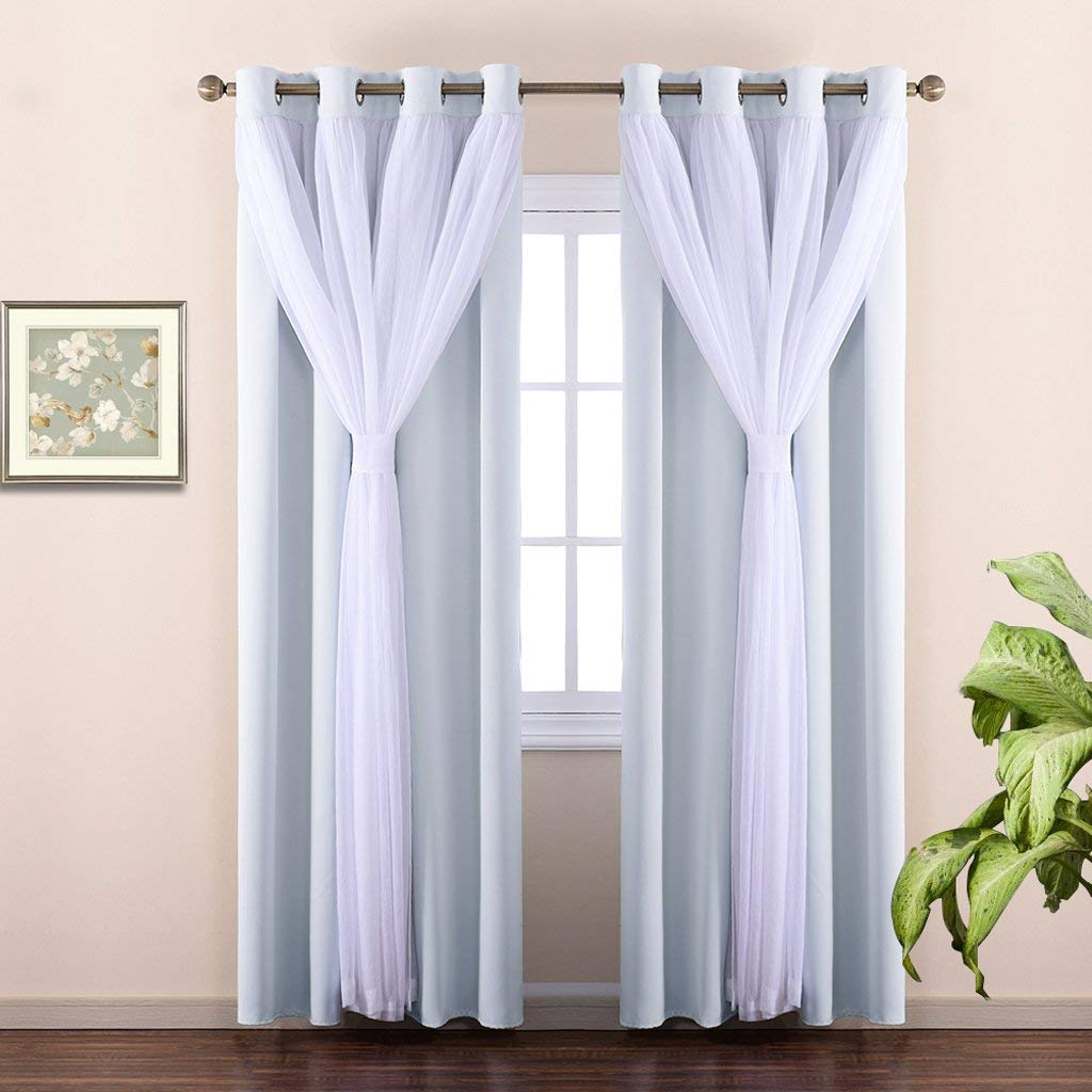 Nicetown Double-Layer Thermal Insulated Bedroom Curtain