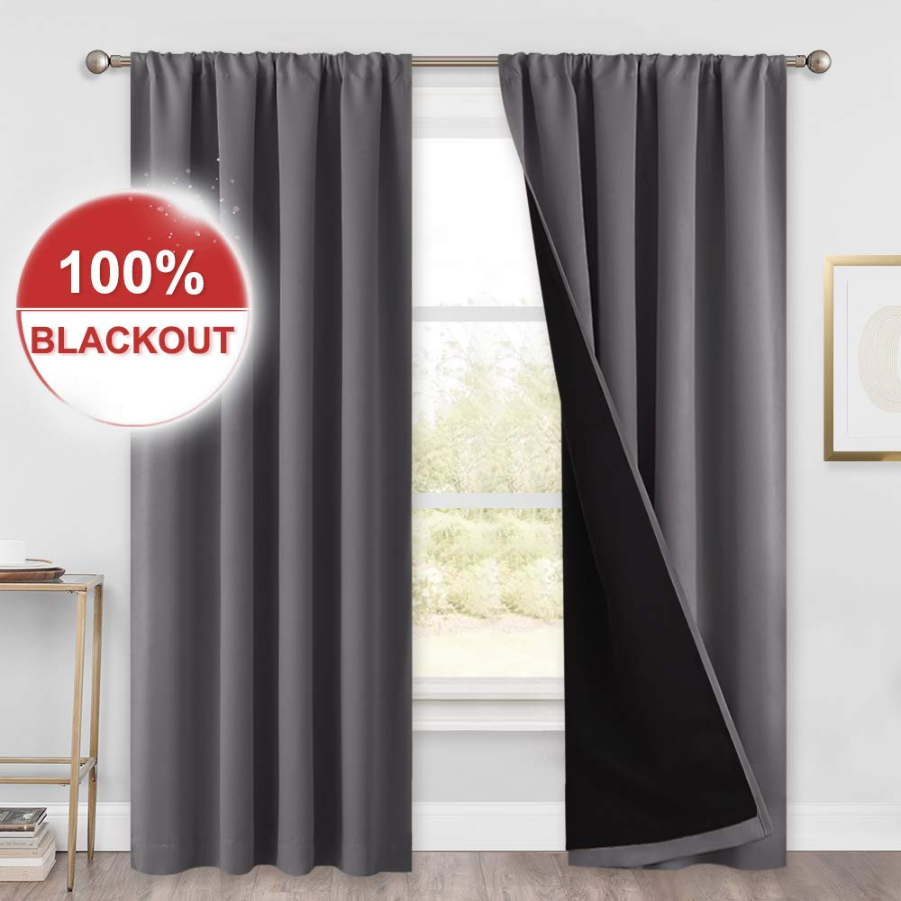 Poly Dance Double Layer Thermal Insulated 100% Blackout Curtains