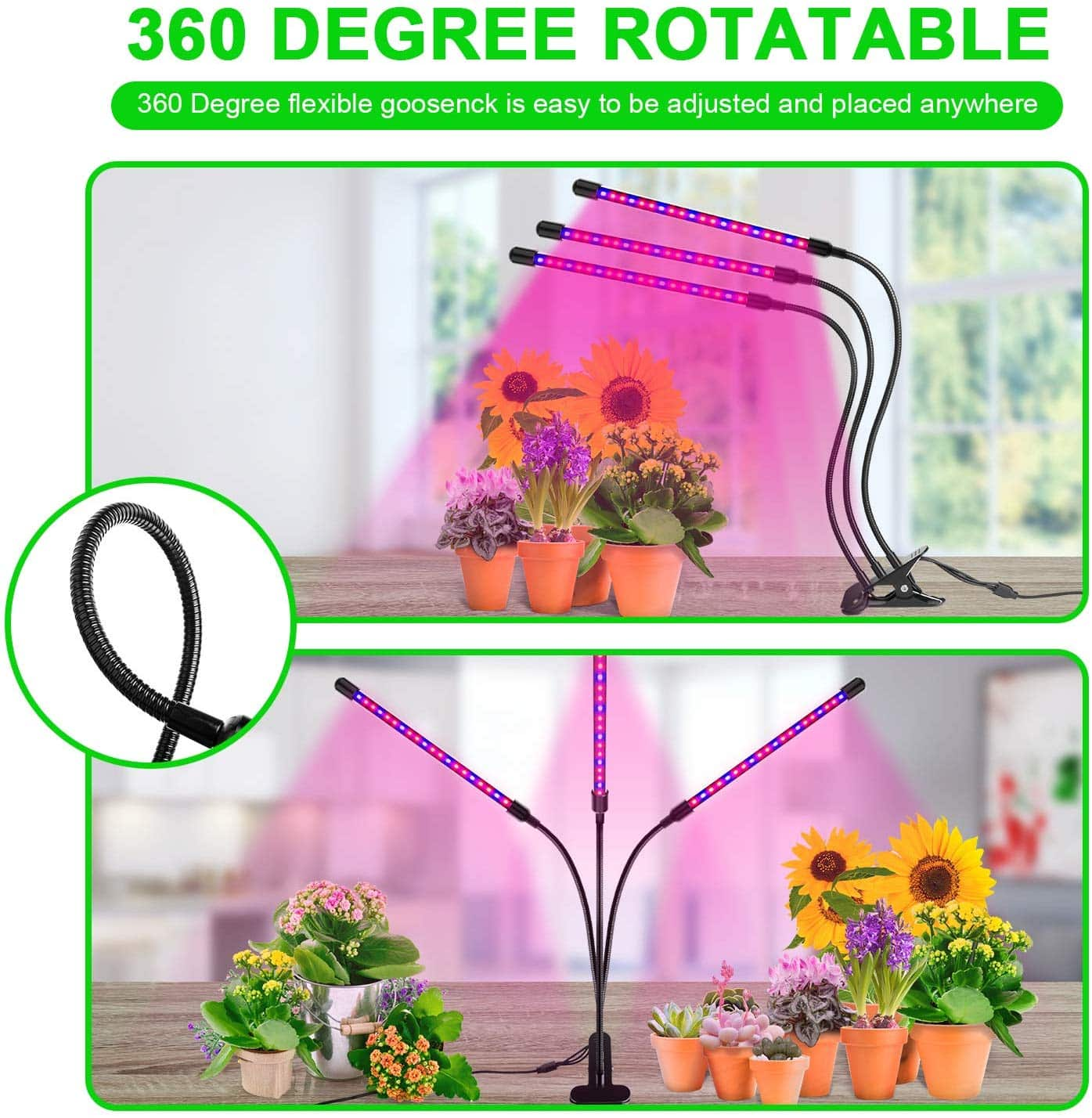 Ankace 60W Tri Head Grow Light
