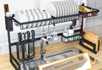 Ctystallove Over Sink Dish Drying Rack