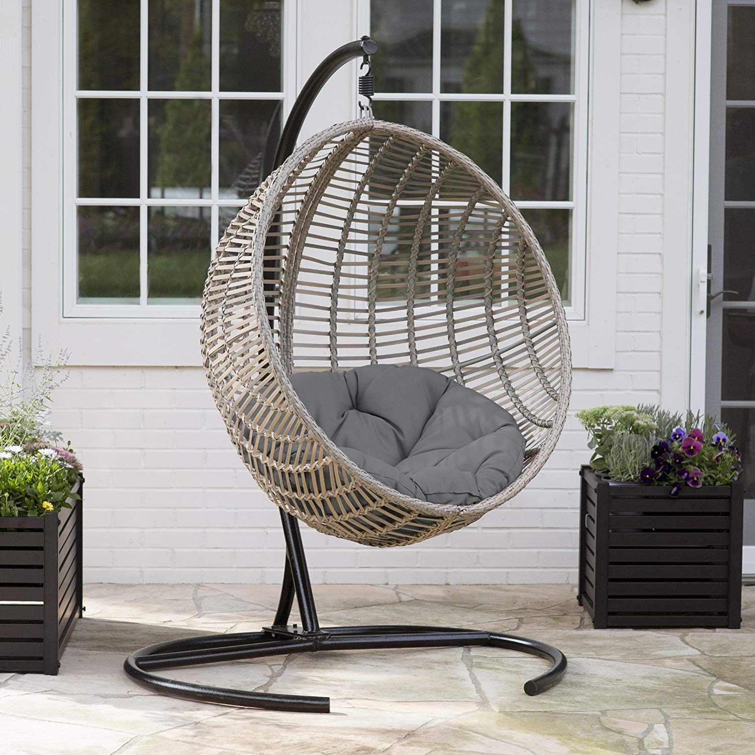 Island Bay Chic Style Egg Chair With Resin Wicker