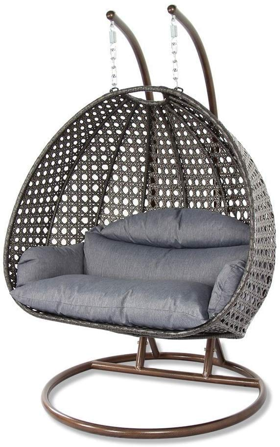 Island Gale Charcoal Cushion Swing Chair