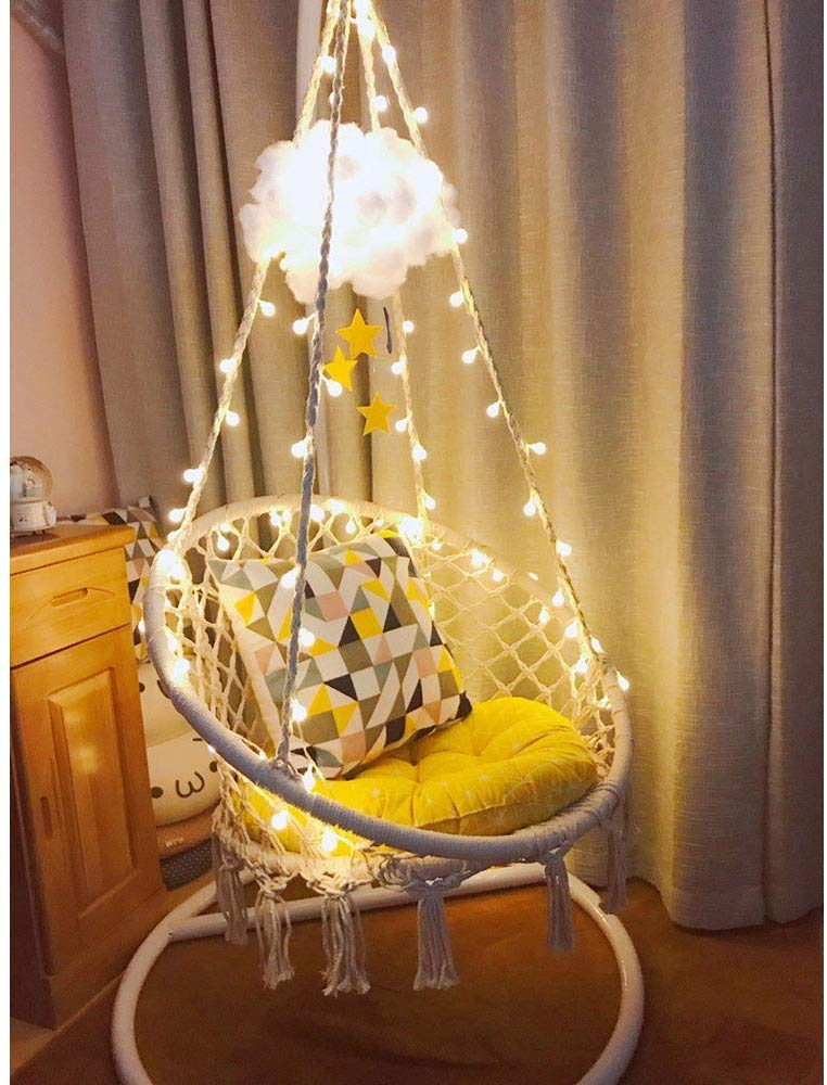Sonyabecca Large Hanging Chair With LED Light For Outdoor/Indoor