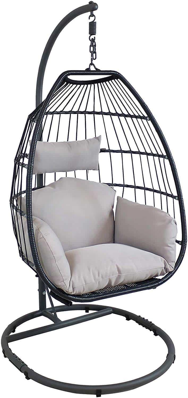 Sunnydaze Decor Outdoor Or Indoor Resin Wicker Egg Chair