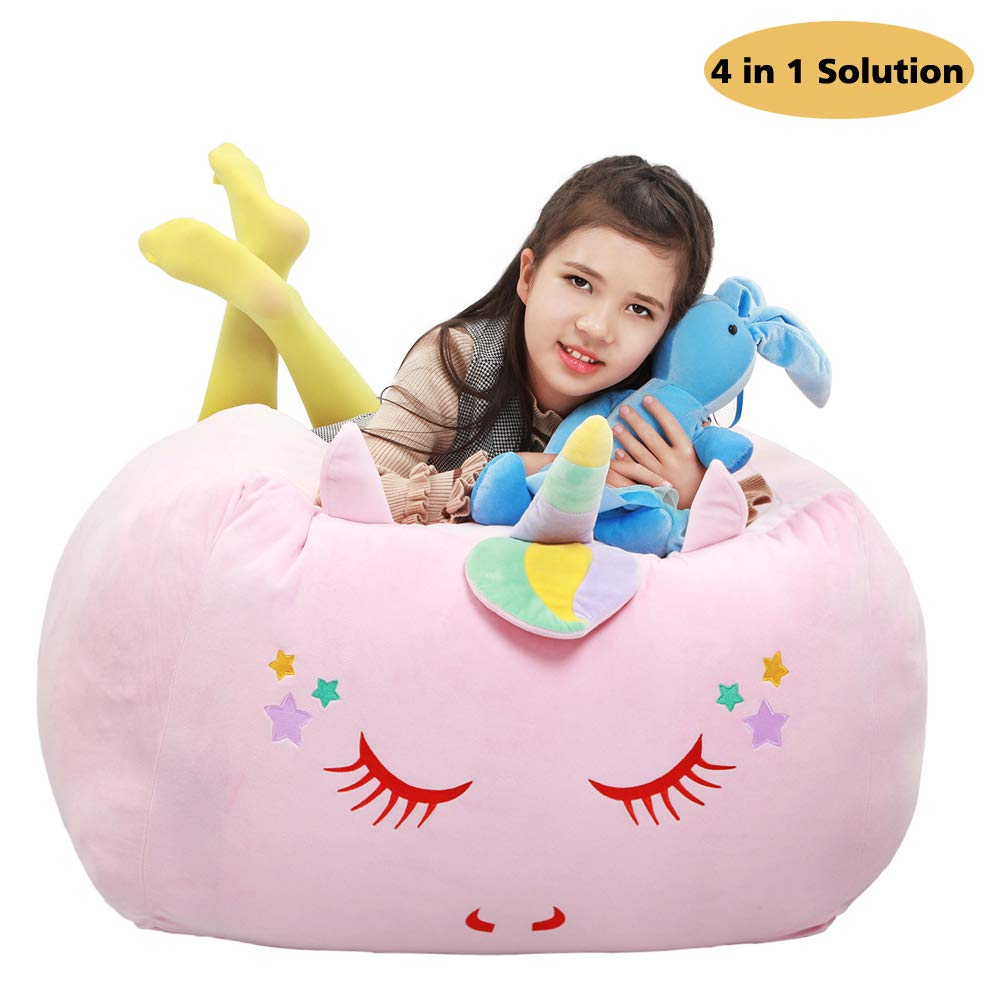 Unicorn Animal stuffed Storage, Bean Bag Chair cover