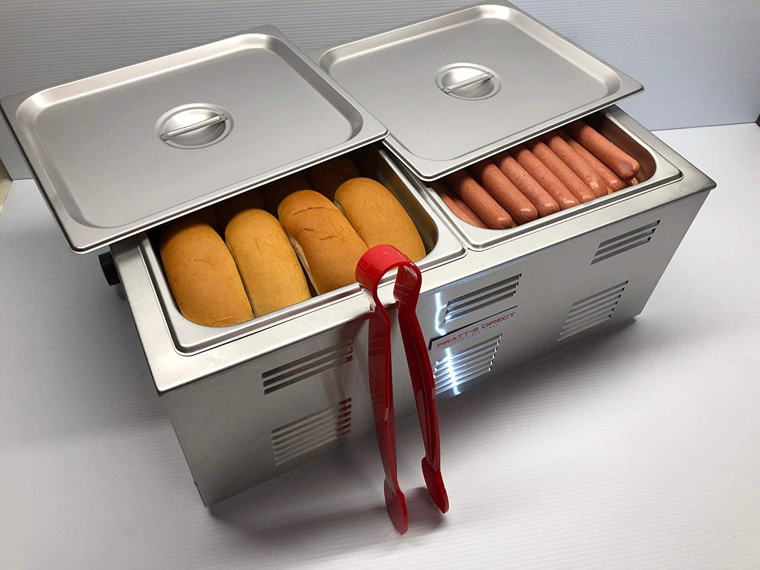 Pratts Direct Commercial Bun Warmer And Hot Dog Cooker