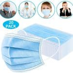 Disposable Face Masks, Safety 3-Layer Mask