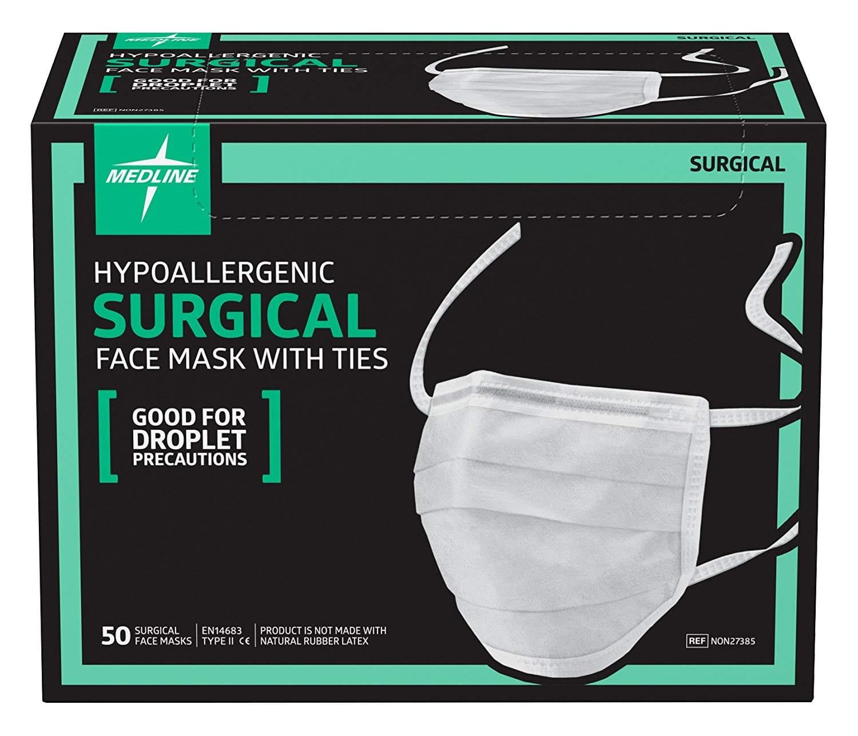 Medline NON27385 Surgical Face Masks