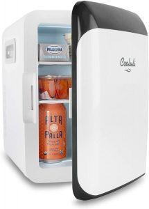 Cooluli 10 Liter Classic White Compact Cooler Warmer Mini Fridge